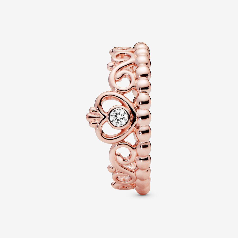 My Princess Tiara Ring In Pandora Rose With Cz Rose Gold