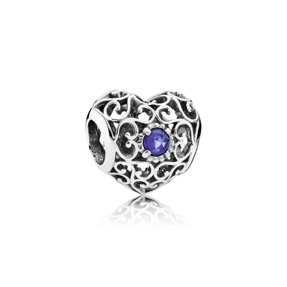 2bc8bdf51 ... pandora september birthstone ring 52995 e93bf low cost september  signature heart charm synthetic sapphire 7efba 225fb ...