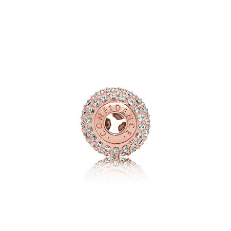 CONFIDENCE Charm, PANDORA Rose™ & Clear CZ
