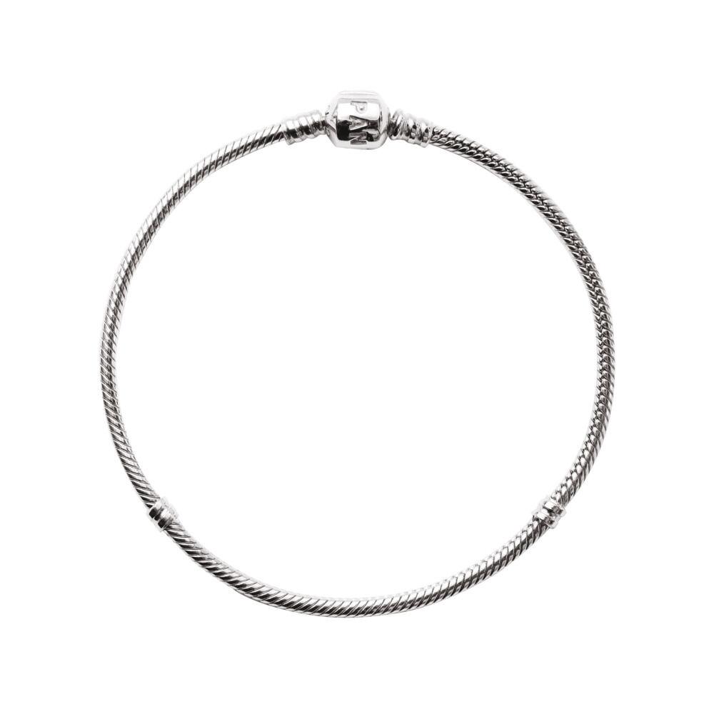 d2249bddb Moments Snake Chain Bracelet, Sterling silver - PANDORA - #590702HV