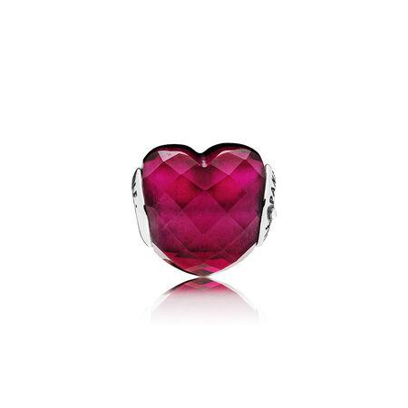 LOVE Charm, Fuchsia Red Crystal
