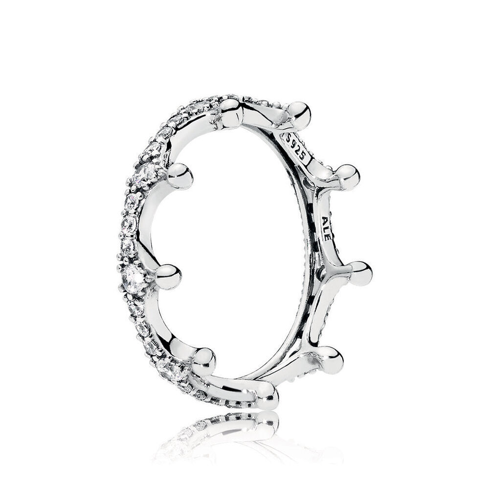 Pandora Rings Crown Black Rose