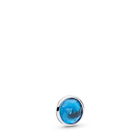 December Droplet Petite Locket Charm, Sterling silver, Crystal - PANDORA - #792175NLB