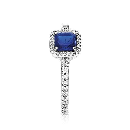 Timeless Elegance, True Blue Crystal & Clear CZ
