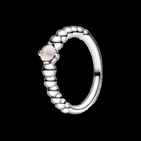 Misty Rose Beaded Ring