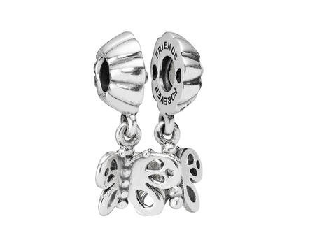 Best Friends Forever Butterfly, Two-Part Charm