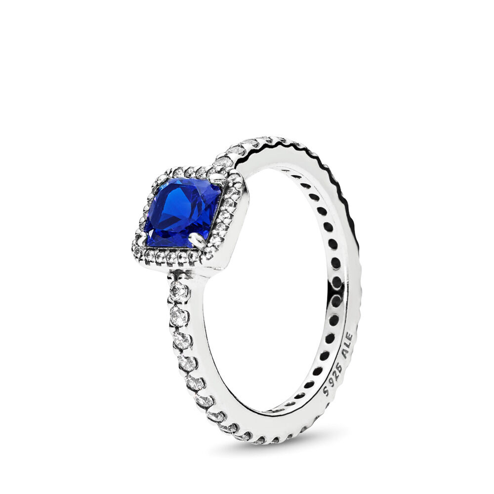 56436a957 Timeless Elegance, True Blue Crystal & Clear CZ, Sterling silver, Blue,  Mixed