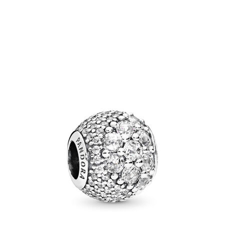 94747a454c6 Enchanted Pavé Charm, Clear CZ Sterling silver, Cubic Zirconia