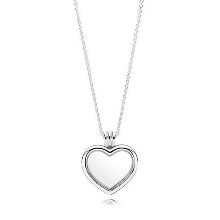 Necklaces for her shop the collection pandora jewelry us pandora floating heart locket sapphire crystal glass clear cz aloadofball Choice Image