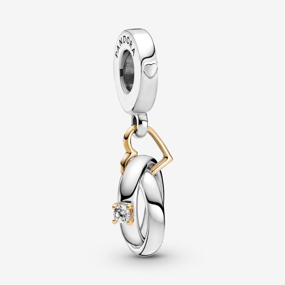 Two-tone Wedding Rings Dangle Charm | Two-tone | Pandora US