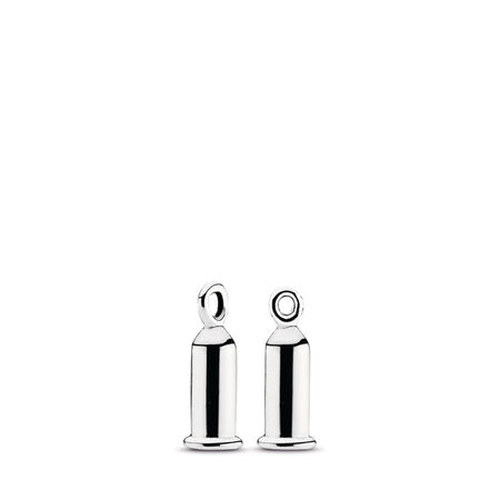 Earring Charm Barrel Sterling Silver by Pandora
