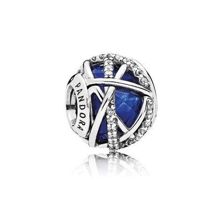 Galaxy Charm, Royal Blue Crystal & Clear CZ