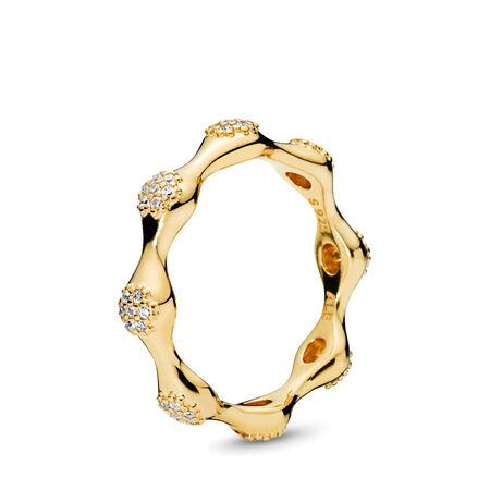 Modern LovePods™ Ring, PANDORA Shine™ & Clear CZ