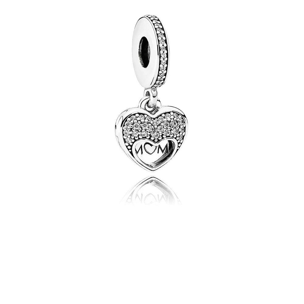 I Love My Mom Dangle Charm Clear Cz Pandora Jewelry Us