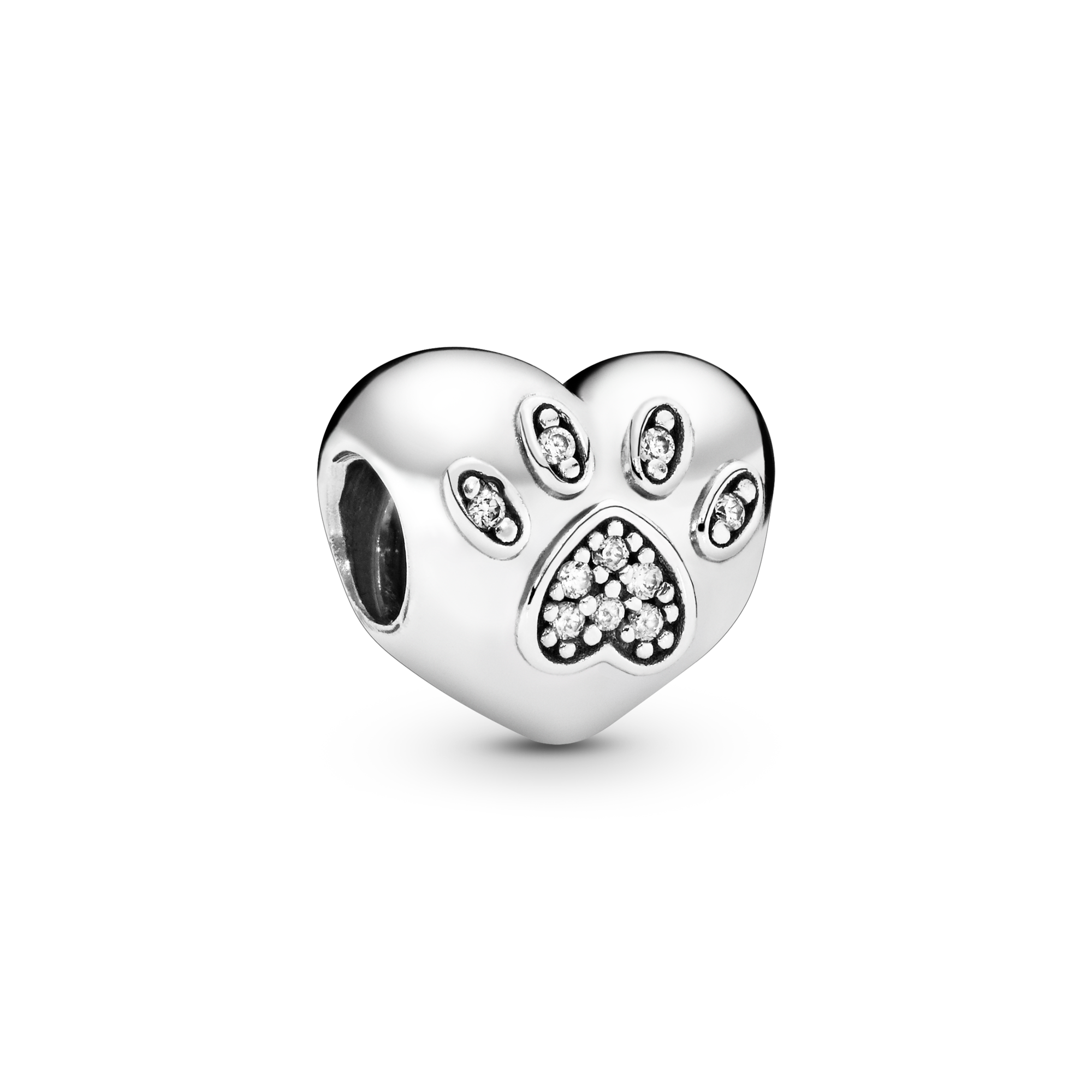 Sterling Silver Small Heart Charm Fit European Bracelet #94081