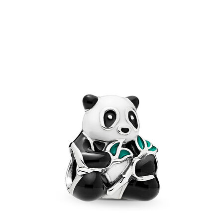 0d0ff9bcca9 Sweet Panda Charm, Mixed-Enamel Sterling silver, Enamel, Black