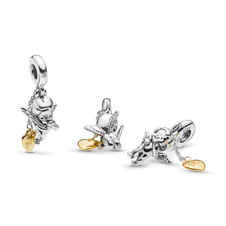 Cupid & You Charm, PANDORA Shine™, Clear CZ, PANDORA Shine and sterling silver, Cubic Zirconia - PANDORA - #767796CZ