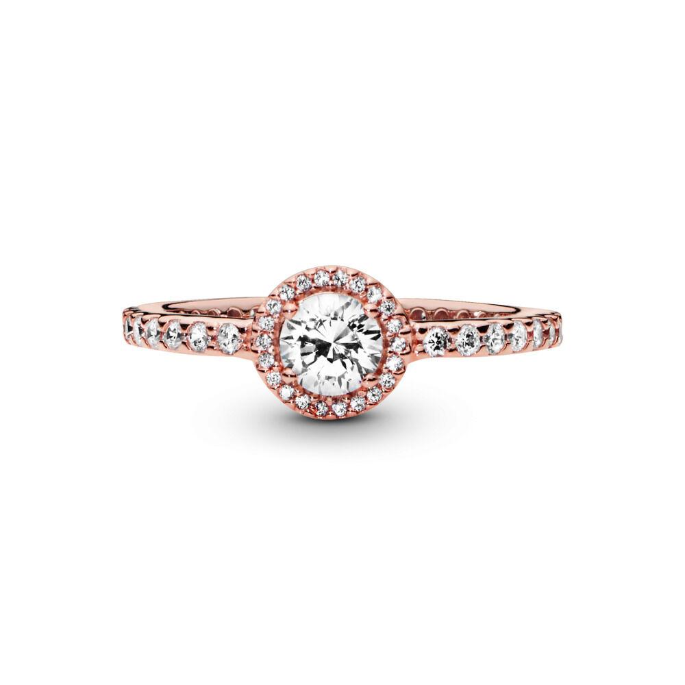 bc16afcfc Classic Elegance Ring, PANDORA Rose™ & Clear CZ, PANDORA Rose, Cubic  Zirconia