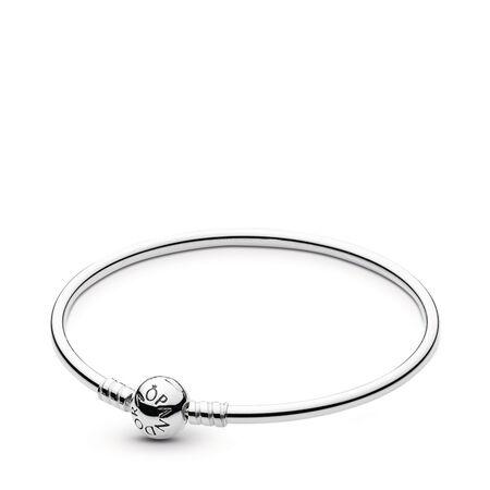 Sterling Silver Bangle Bracelet, Sterling silver - PANDORA - #590713