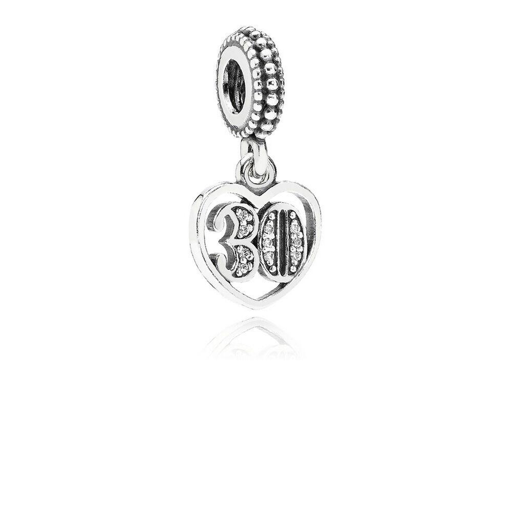 30 Years Of Love Dangle Charm Clear Cz Pandora Jewelry Us
