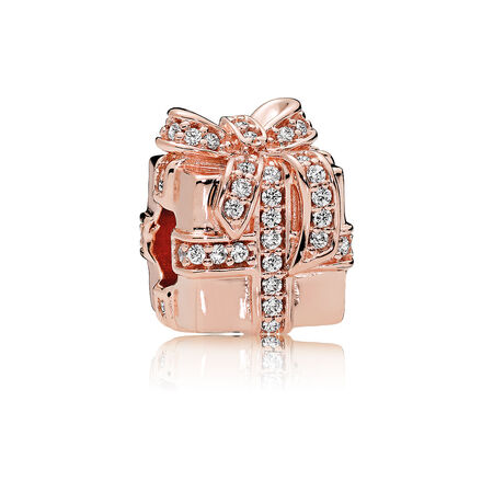 Sparkling Surprise Charm, PANDORA Rose™ & Clear CZ
