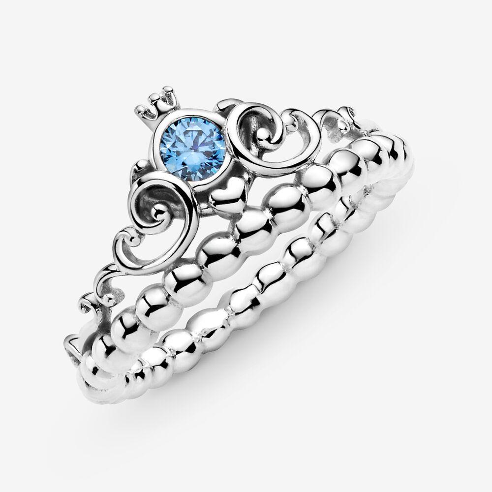 Disney Cinderella Blue Tiara Ring   Sterling silver   Pandora US