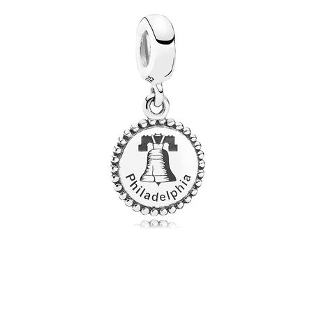 Philadelphia Dangle Charm, Black Enamel, Sterling silver - PANDORA - #ENG791169_9