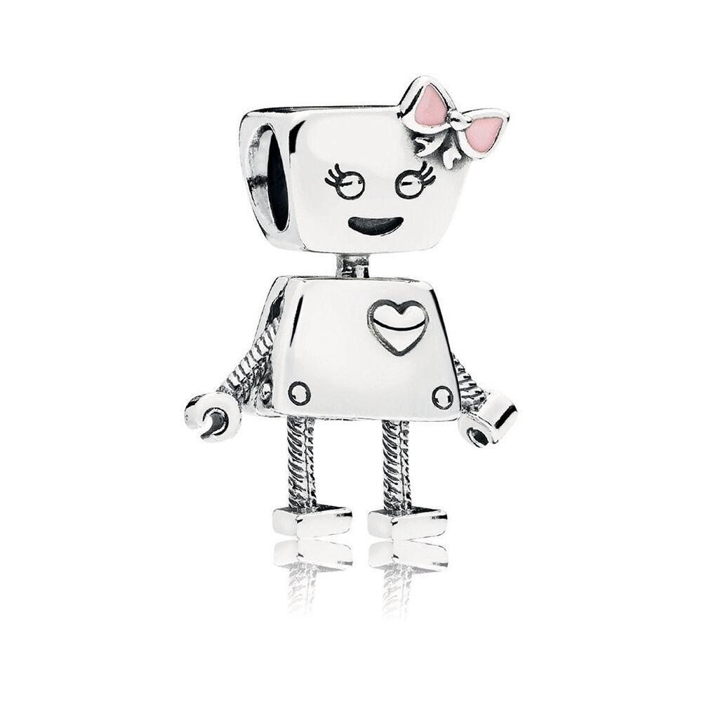 Bella Bot Charm Pink Enamel Pandora Jewelry Us