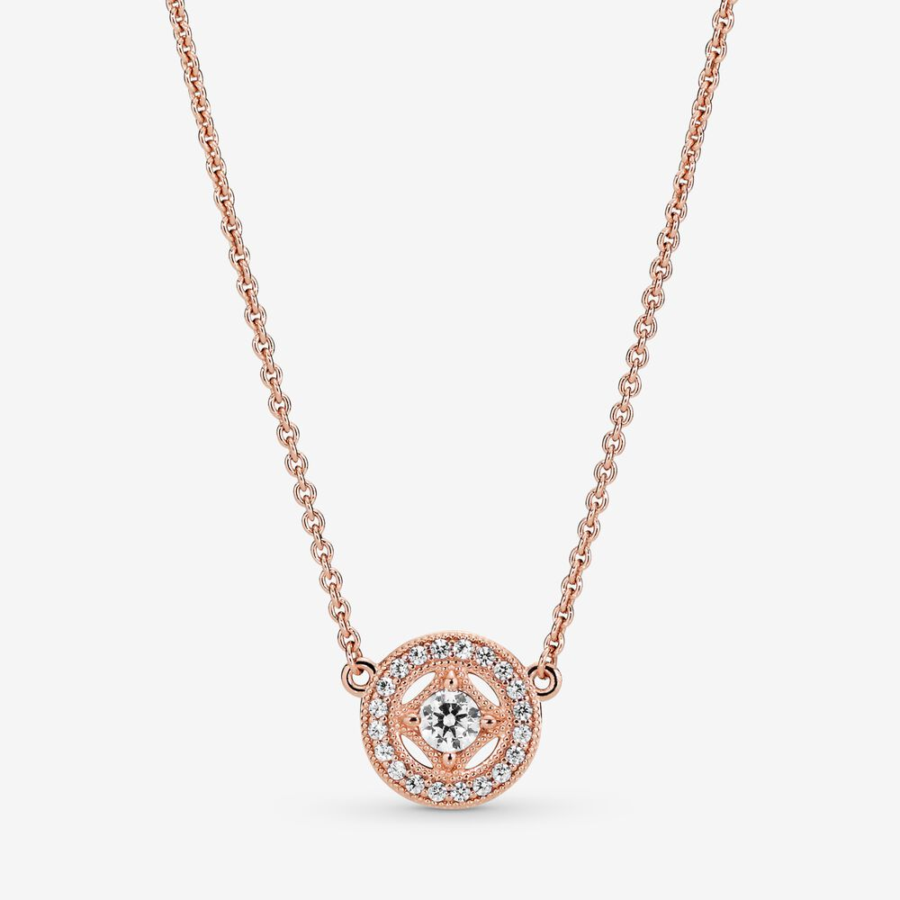 Vintage Circle Collier Necklace | Rose gold plated | Pandora US