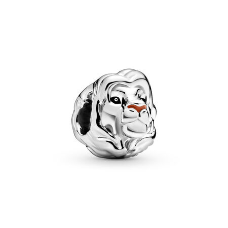 Disney, The Lion King Simba Charm, Sterling silver, Enamel, Black - PANDORA - #798049ENMX
