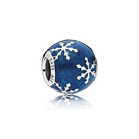 Wintry Delight Charm, Midnight Blue Enamel