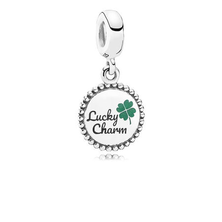 Lucky Dangle Charm, Mixed Enamel
