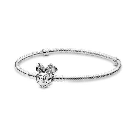 Disney, Shimmering Minnie Portrait Bracelet