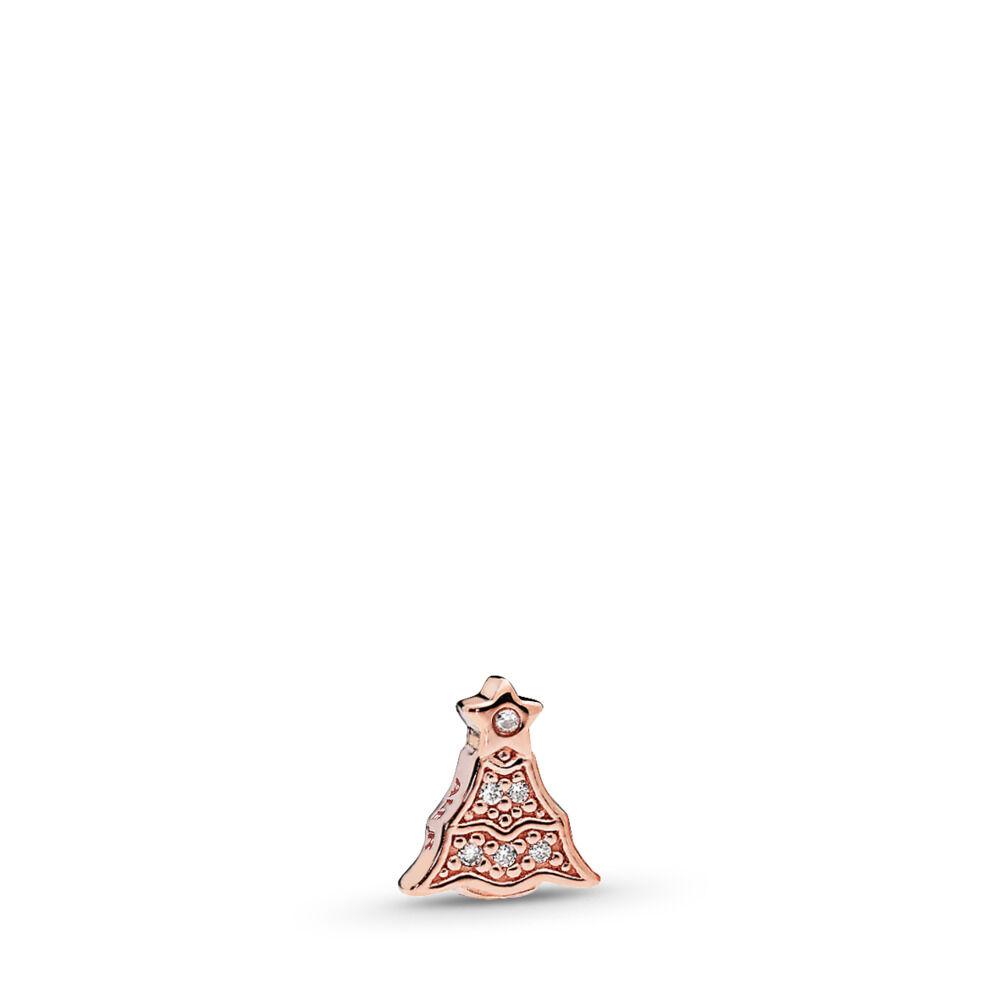 Twinkling Christmas Tree Petite Locket Charm Pandora Rose Clear Cz