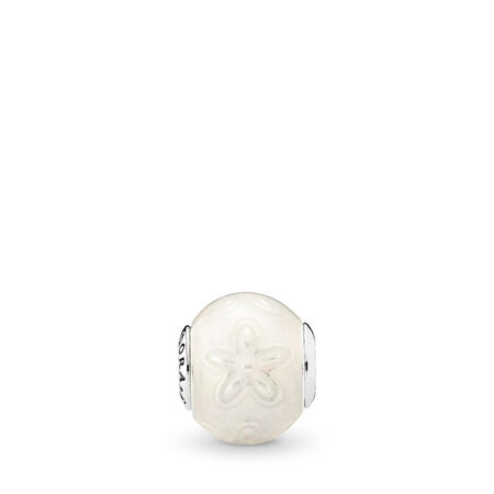 JOY Charm, Transparent White Enamel