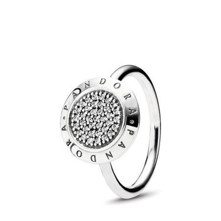 PANDORA Signature Pavé Ring, Clear CZ