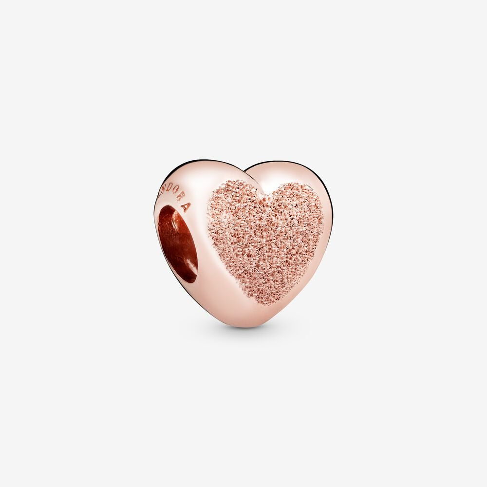 Matte Brilliance Heart Charm