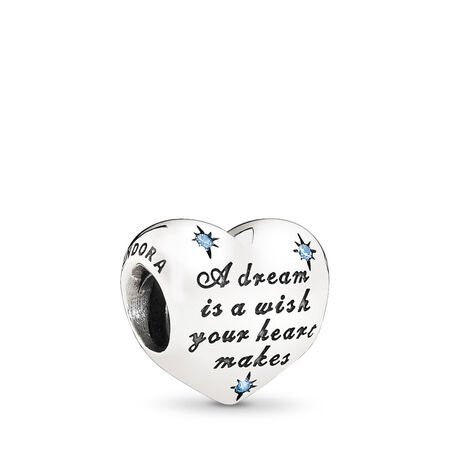 Disney, Cinderella's Dream Charm, Fancy Light Blue CZ