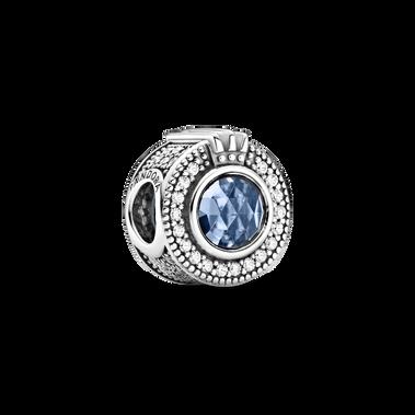 Charm O Coronada Azul Brillante
