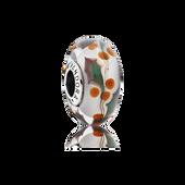 Christmas Holly Charm, Murano Glass