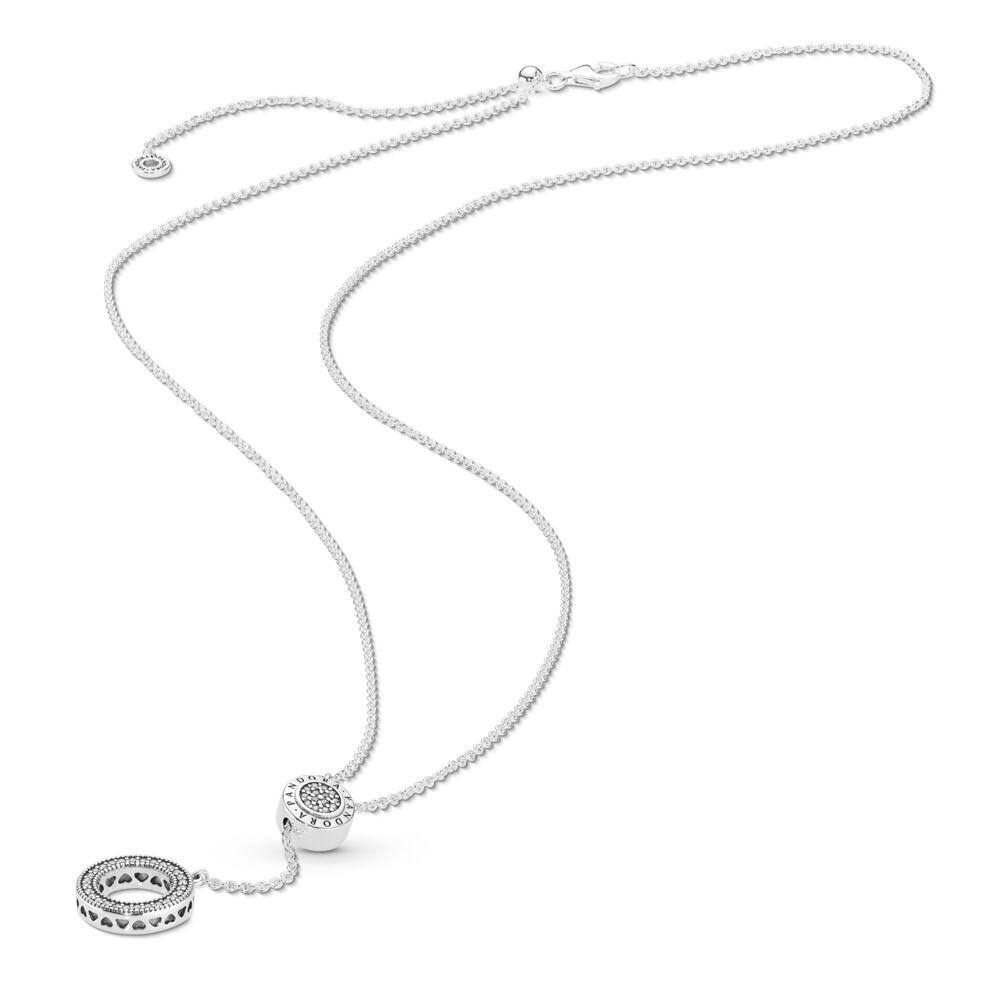 f7a0a992f8175 PANDORA Signature Necklace, Clear CZ