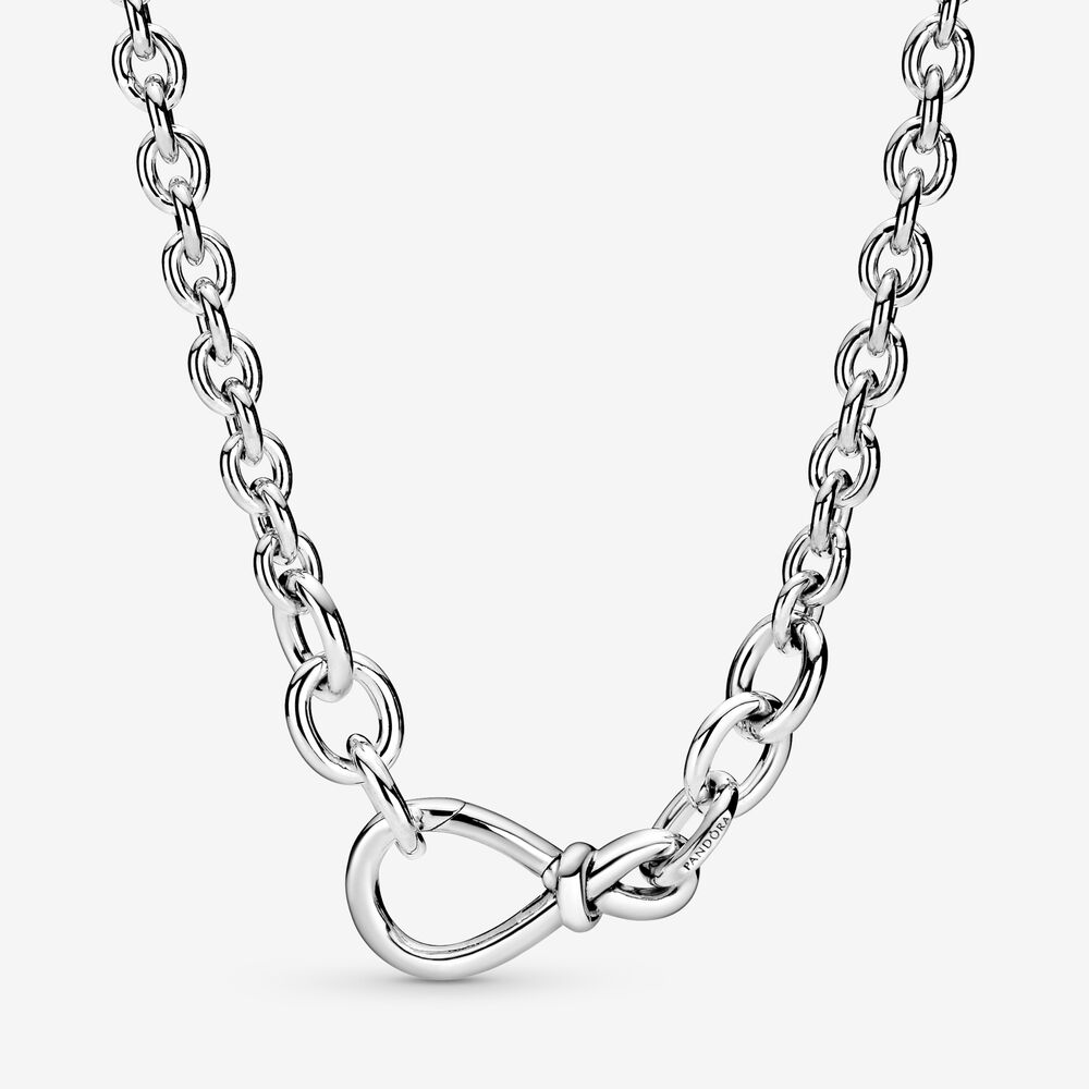 Chunky Infinity Knot Chain Necklace | Sterling silver | Pandora US