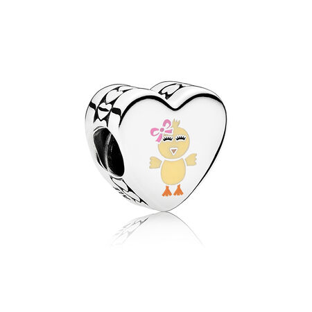 You're My Favorite Chick Charm, Mixed Enamel, Sterling Silver, Pink, Cubic Zirconia - PANDORA - #ENG792015_9