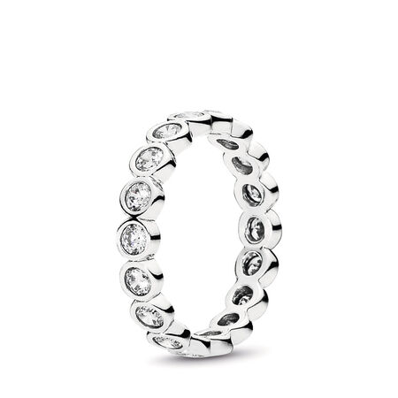 Alluring Brilliant Stackable Ring, Clear CZ