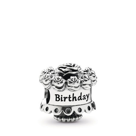 Happy Birthday Charm, Sterling silver - PANDORA - #791289