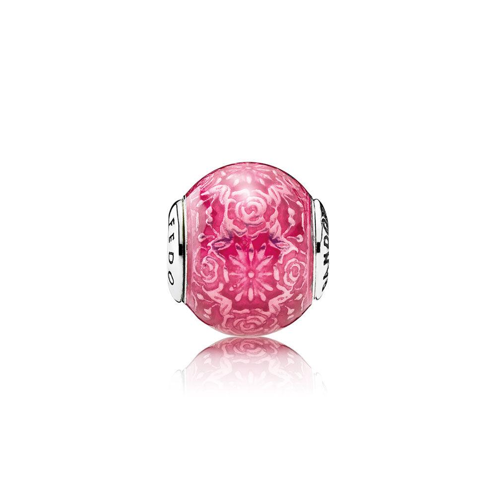 FREEDOM Charm, Transparent Cerise Enamel | PANDORA Jewelry US