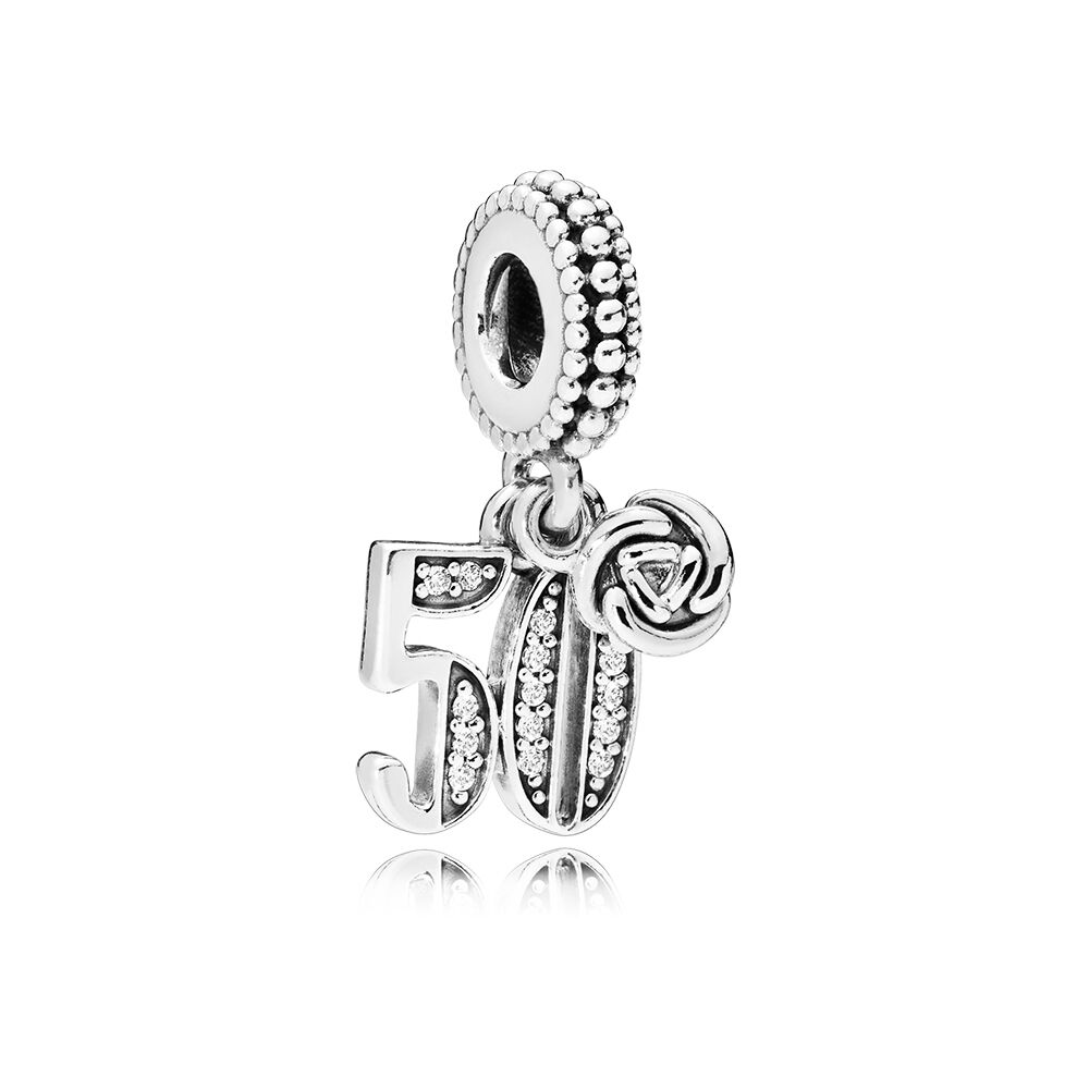 50 Years Of Love Dangle Charm Clear Cz Pandora Jewelry Us