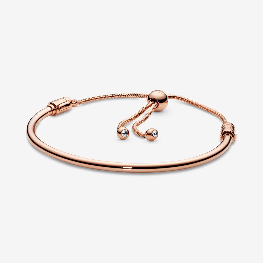 Sliding Bangle Bracelet | Rose Gold-Plated | Rose gold plated ...