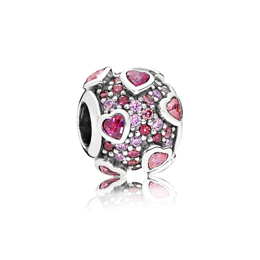 Explosion Of Love Charm, Multi Colored CZ