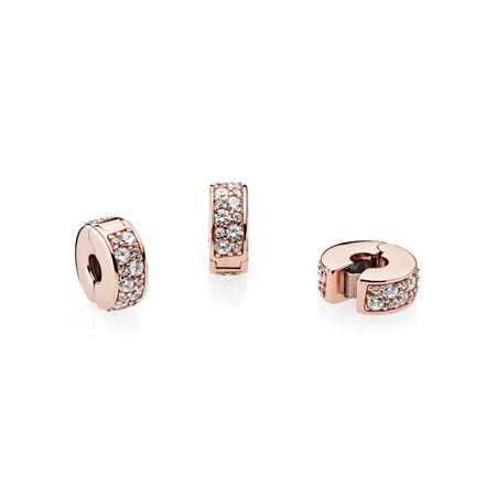 Shining Elegance Clip, PANDORA Rose™ & Clear CZ
